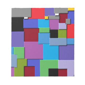 Random Squares Notepad