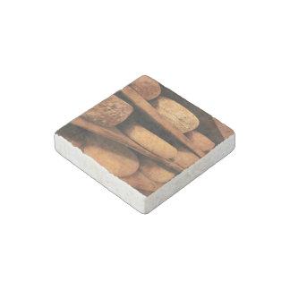 Random stones stacked in shelves stone magnet