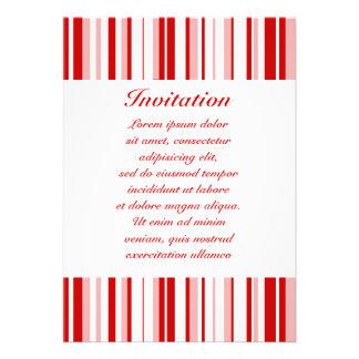Random Stripes Red + Custom Color Announcements
