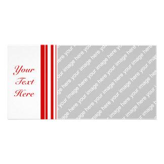 Random Stripes Red + Custom Color Card