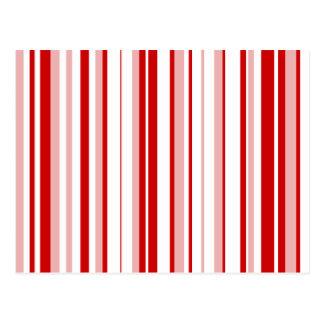Random Stripes Red + Custom Color Postcard
