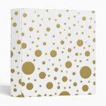 Random Stylish Gold Dots 3 Ring Binder