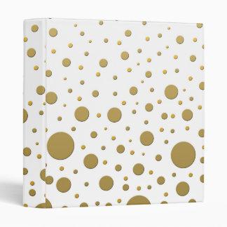 Random Stylish Gold Dots Vinyl Binders