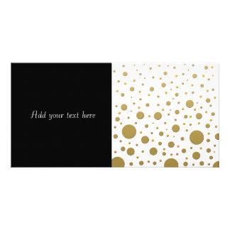 Random Stylish Gold Dots Card