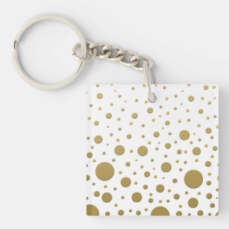 Random Stylish Gold Dots Keychain
