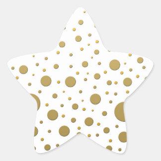 Random Stylish Gold Dots Star Sticker