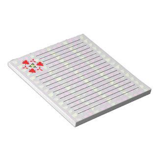 Random tile pattern notepad