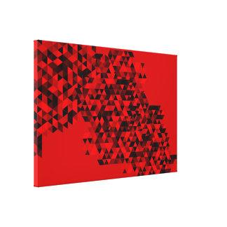 Random Triangle Pattern Red Artwork Canvas Print