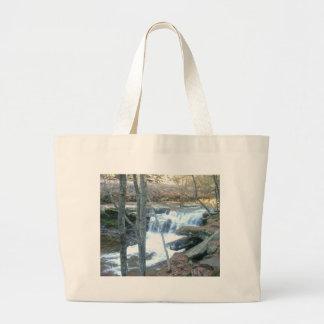 Random Waterfall Large Tote Bag