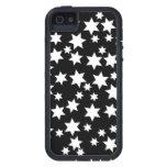 Random White Stars on Black iPhone 5 Covers