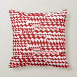 Random Zigzag Patterns Pillow at Zazzle