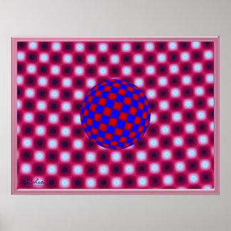 Randomly Dancing Ball Optical Illusion Poster
