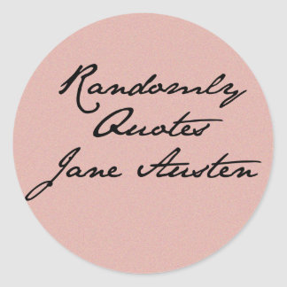 Randomly Quotes Jane Austen Stickers
