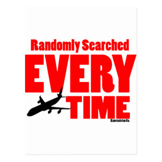 Randomly Searched Everytime Postcard