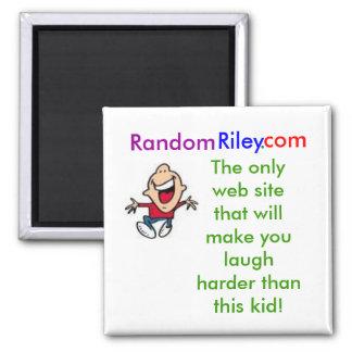 RandomRiley.com 2 Inch Square Magnet