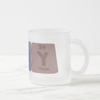 Randy as Radium Neodyminium Yttrium 10 Oz Frosted Glass Coffee Mug