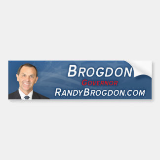 Randy Brogdon Bumper Sticker
