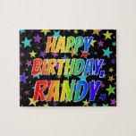 "[ Thumbnail: ""Randy"" First Name, Fun ""Happy Birthday"" Jigsaw Puzzle ]"