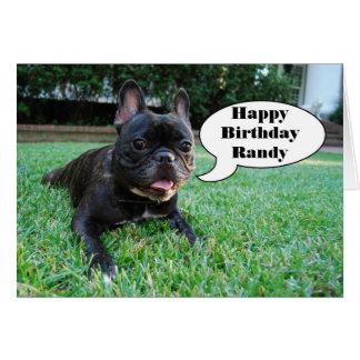 Randy Happy Birthday French Bulldog Card