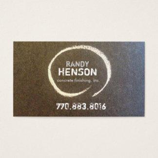 Randy Henson Concrete Business Card