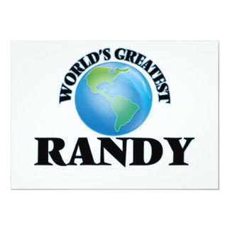 Randy más grande del mundo comunicados personalizados