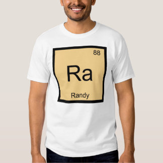 Randy Name Chemistry Element Periodic Table Shirt