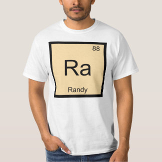 Randy Name Chemistry Element Periodic Table Tee Shirt