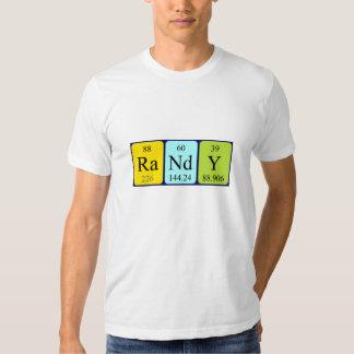 Randy periodic table name shirt
