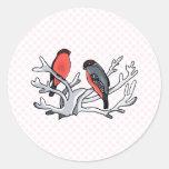 Randy & Randi Robin Round Stickers