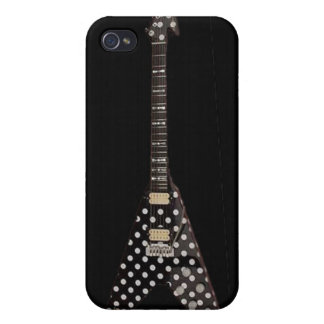 Randy Rhoads Polka Dot Flying V Guitar Cover For iPhone 4