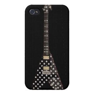 Randy Rhoads Polka Dot Flying V Guitar iPhone 4 Case