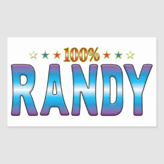 Randy Star Tag v2 Rectangle Stickers