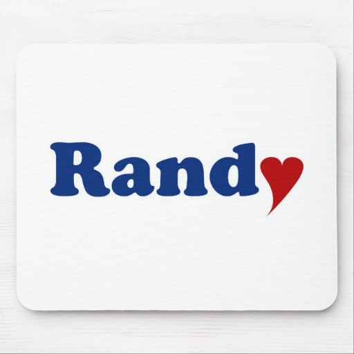 Randy with Heart Mouse Pad