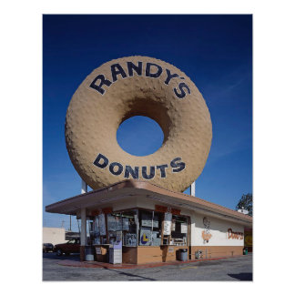 Randy's Donuts California Mid Century Modern Poster