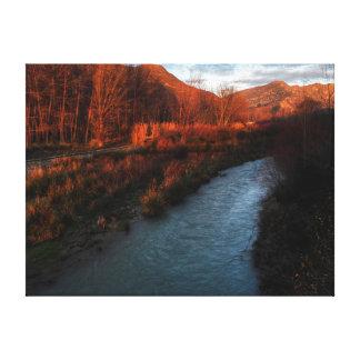Range of brown canvas print
