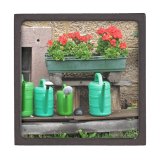 Range of plastic watering cans jewelry box