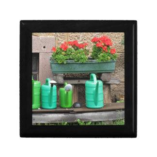Range of plastic watering cans keepsake box
