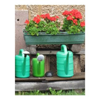 Range of plastic watering cans letterhead