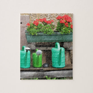 Range of plastic watering cans puzzle
