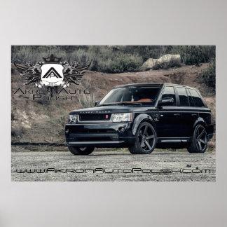 Range Rover, polaco del auto de Akron Póster