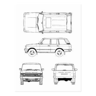 Range Rover Postcard