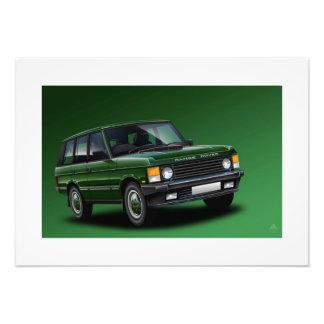 Range Rover Vogue Poster Illustration Photo Print