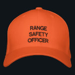 "Range Safety Officer Cap<br><div class=""desc"">Bright Blaze Orange Range Safety Officer&#39;s Cap is highly visible and easily recognizable to all shooters to reinforce your position and authority as RSO.</div>"