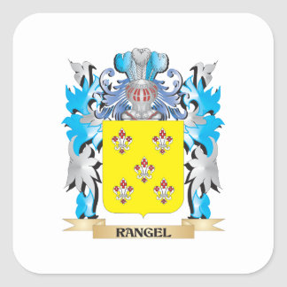 Rangel Coat of Arms - Family Crest Square Stickers