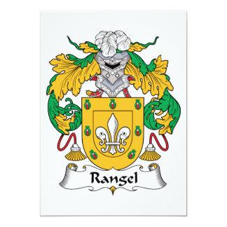 "Rangel Family Crest 5"" X 7"" Invitation Card"