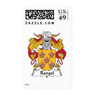 Rangel Family Crest Stamp
