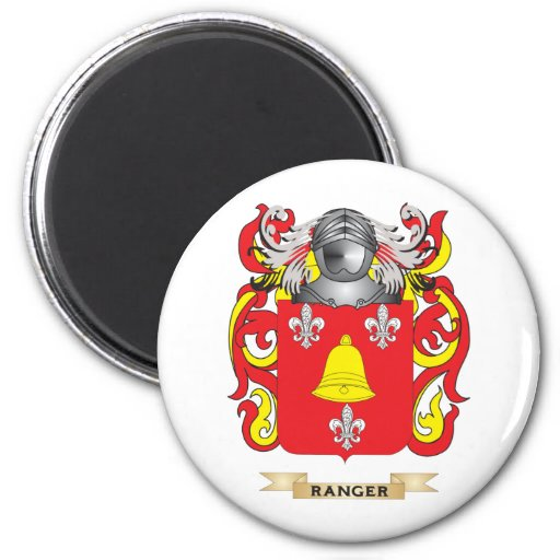 Ranger Coat of Arms (Family Crest) 2 Inch Round Magnet