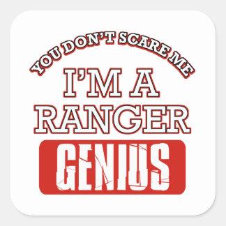 Ranger genius square sticker