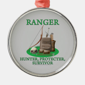 Ranger: Hunter, Protector, Survivor Metal Ornament