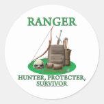 Ranger: Hunter, Protector, Survivor Round Stickers